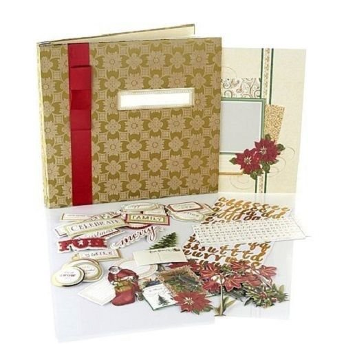 Anna Griffin Holiday Traditions Christmas Instant Scrapbook Album ~ BOGO ~ You get Two Kits! (Griffin Scrapbook Anna)