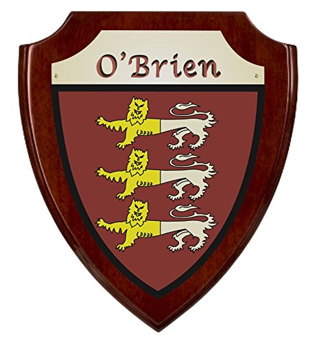 O'Brien Irish Coat of Arms Shield Plaque - Rosewood Finish