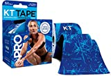 KT Tape PRO LIMITED EDITION Synthetic Kinesiology Tape Roll - 20 Precut 10 Inch I Strips - Blue Ice Crystal