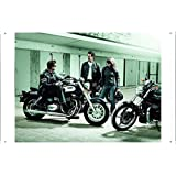 Tin Sign Motorcycle Bike Poster Metal Plate Wall Decor by Jake Box 20*30cm of Triumph Bikers Gathering