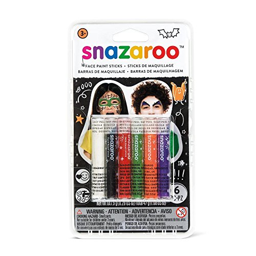 Snazaroo 1160603 Halloween Face Paint Sticks - Set of -