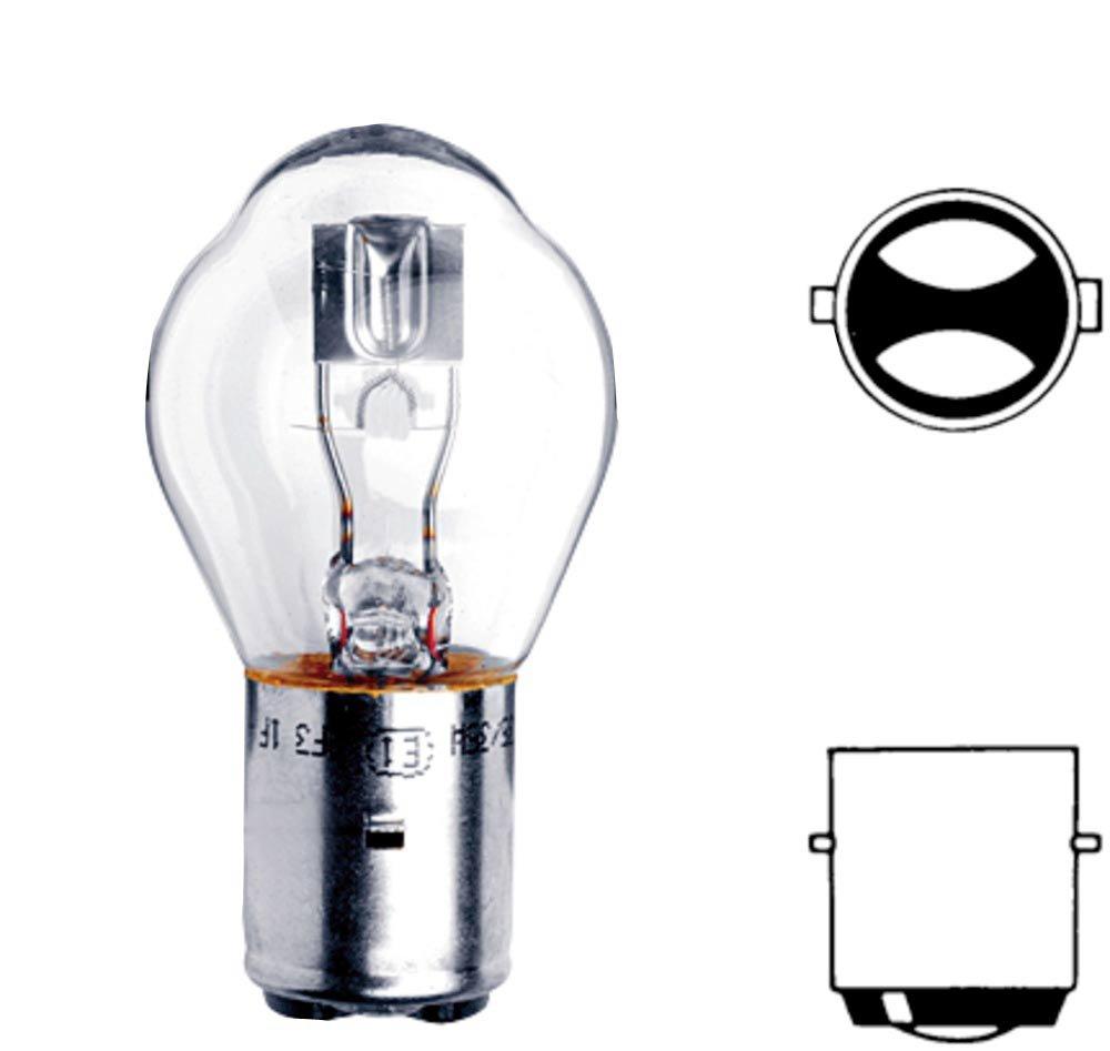S1 6V 25 W HELLA 8GD 008 897-061 Gl/ühlampe Standard Scheinwerferlampe f/ür Hauptscheinwerfer