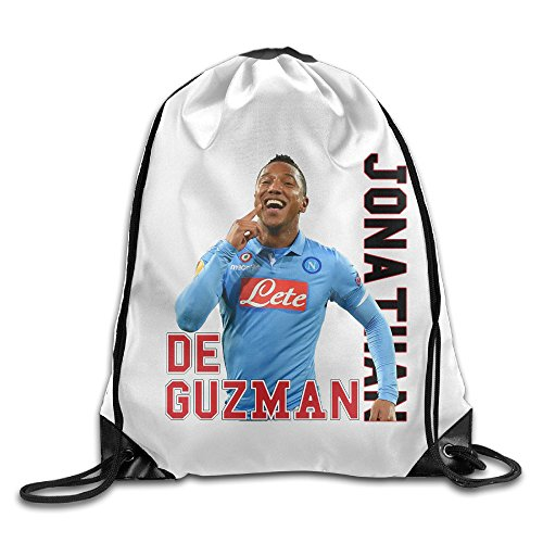 Price comparison product image CEDAEI #16 Jonathan De Guzmán Footballer Carpi F.C. 1909 Drawstring Bags Visor White Backpack Sport Bag For Men & Women School Travel Backpack For Teens College