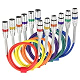 Tisino 6 Pack 3FT Multi-Color XLR Patch Cables, 3-Pin XLR Male to Female Microphone Cable Balanced Mic Cord XLR Snake Cables - 3.3 feet