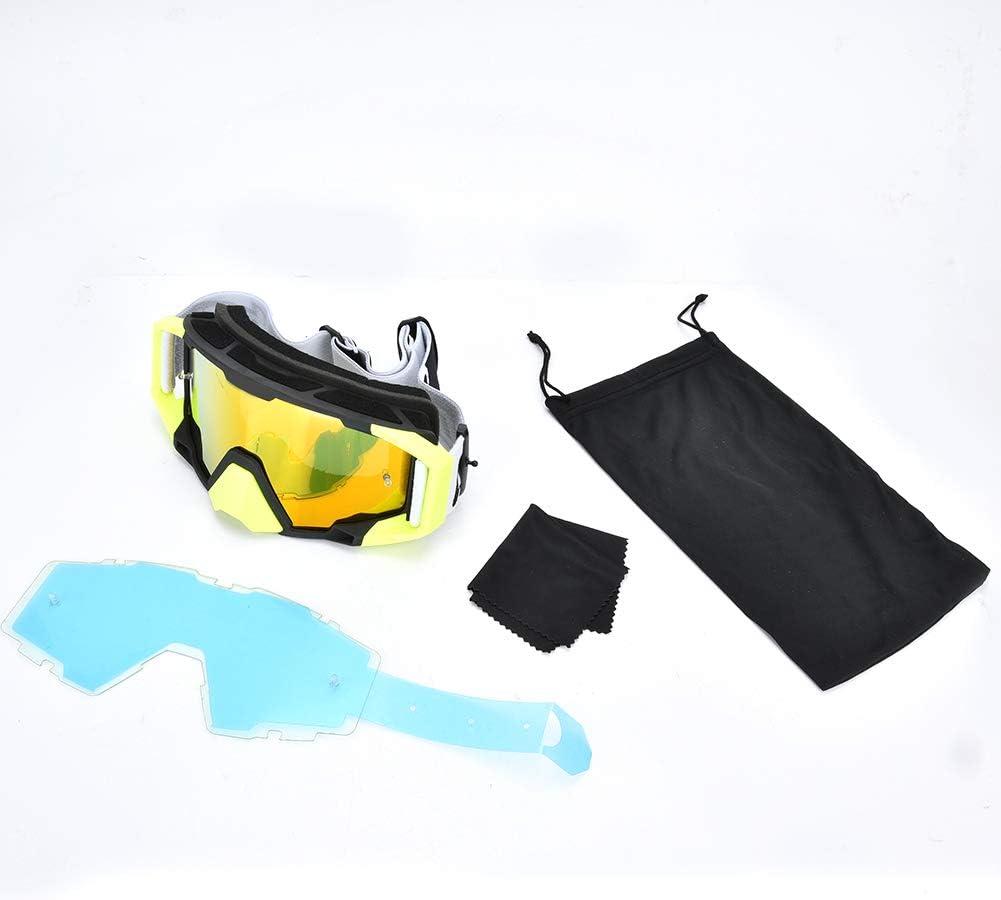 Alomejor Gafas de Motocross de Carretera antiviento Gafas de Seguridad Gafas de protecci/ón para Montar en Moto