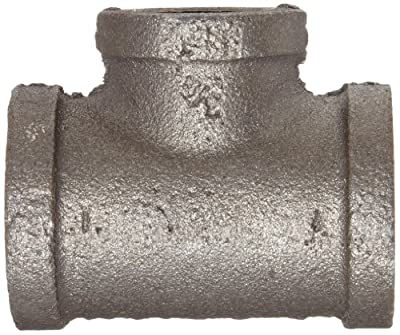 Anvil Malleable Iron Pipe Fitting, Class 150, Reducing Tee, NPT Female, Black Finish