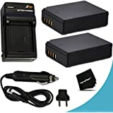 2 High Capacity LP-E10 Batteries and Battery Charger Kit for Canon EOS Rebel T3, T5, T6, T7, Kiss X50, Kiss X70, EOS 1100D, EOS 1200D, EOS 1300D, EOS 2000D DSLR Cameras