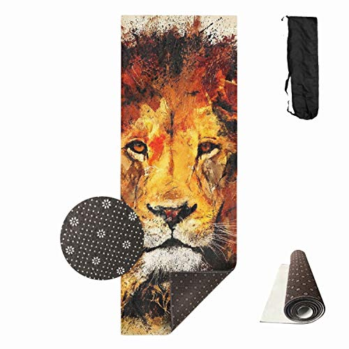 "Qeeww Watercolor Leo Yoga Mat - Premium Print Thick Exercise & Fitness Mat for All Types of Yoga, Pilates & Floor Exercises (70"" x 24"")"