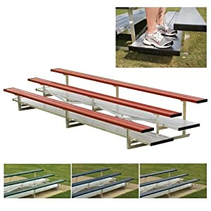 4 Row 15' Powder Coated Pref. Bleachers (EA) from BSN SPORTS