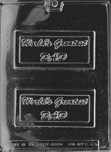 Cybrtrayd Life of the Party G048 World's Greatest Dad Fathers Day Greeting Card Chocolate Candy Mold in Sealed Protective Poly Bag Imprinted with Copyrighted Cybrtrayd Molding Instructions -