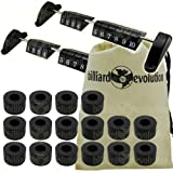Set of 2 Foosball Scoring Units and 16 Smooth Rubber Bumpers for Foosball Table & Billiard Evolution Drawstring Bag