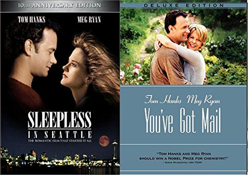 Tom & Meg You've Got Mail + Sleepless in Seattle DVD Romantic movie Set 2 pack of love collection