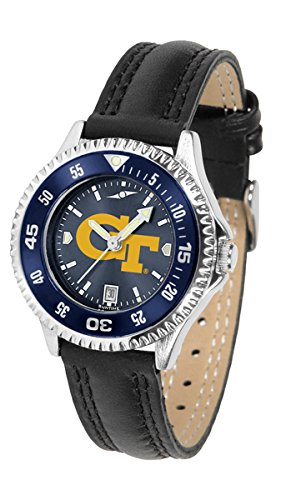 Georgia Tech Yellow Jackets Competitor AnoChrome Women's Watch - Color Bezel by SunTime