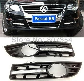 2PCS DRL Fog Lamp LED Daytime Running Light Turn Signal Cover Kit Fit For VW/Volkswagen Passat B6 2006 2007 2008 2009