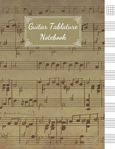 - Guitar Tablature Notebook: Blank Sheet Music For Guitar, Music Manuscript Paper, 6 String Chord, Staff and Title Music Paper For Guitar Players, Musicians, Teachers and Students (100 Pages 8.5 x 11 )
