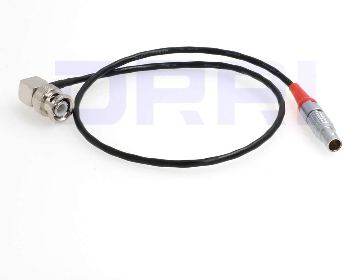 Elbow BNC Cable DRRI LTC-Out Lockit Timecode Cable 5Pin to BNC for ARRI Mini