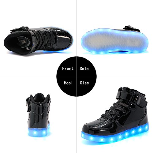 LED ByBetty Chaussures Femme Lumineuse Noir Basket 43 USB Rechargeable Adulte Homme pour LED 4r4qwnHE