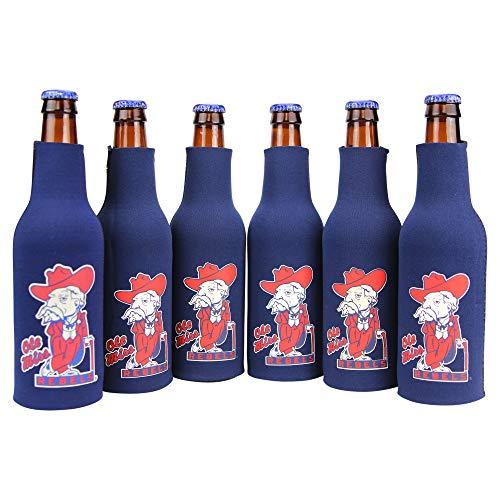 (Kolder NCAA Collegiate 6 Pack Bundle Neoprene Bottle Coozies (Ole Miss Rebels (Mascot)))