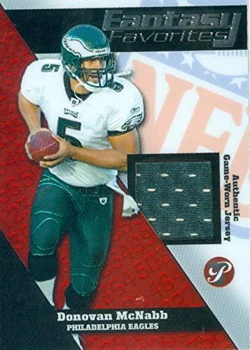 Donovan McNabb player worn jersey patch football card (Philadelphia Eagles) 2004 Topps Fantasy Favorites #FFDM
