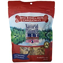 NATURAL BALANCE 236534 12-Pack Lit Bison and Sweet Potato Treat for Pets, 8-Ounce