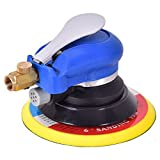 Air Palm Random Orbital Sander Dual Action Speed Adjustable Pneumatic Polisher Grinding Sanding with Pad (6 inch)