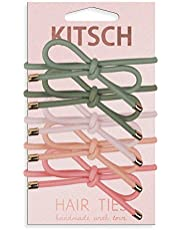 Kitsch 5 Piece Premium Knotted Hair Ties Set, Fashion Ponytail Holders for Women, Hair Ties for Women, Bow Hair Ties