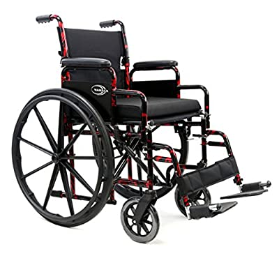 "Karman LT-770 18"" Lightweight Wheelchair Red Streak"