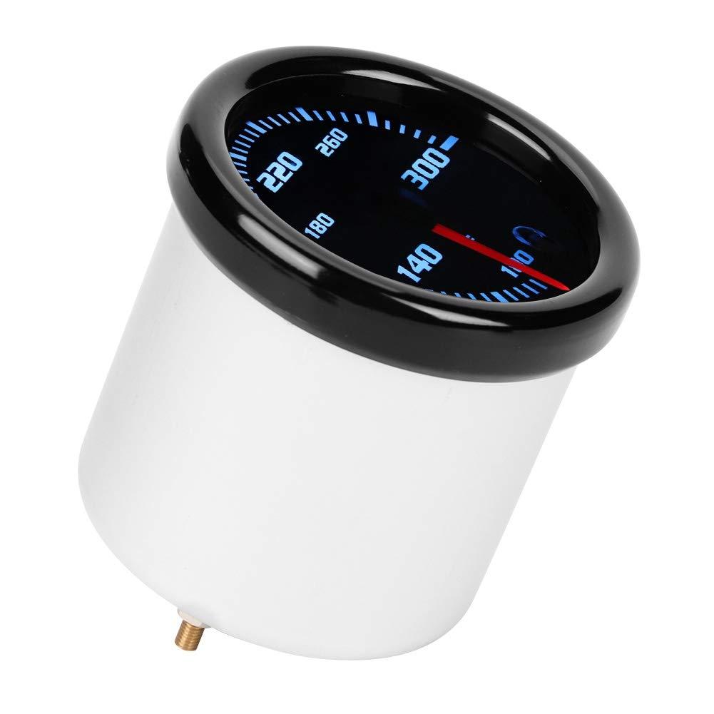 Indicador de la Temperatura del Agua Indicador del Metro de la Temperatura de la Temperatura del Agua del Coche de DC 12V con el Negro Shell de la Pantalla LED de 7 Colores