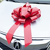 Red Car Bow - HUGE Magnetic Bows - Premium Gift Wrap for your Automobile, Appliance, or Large Present (22 Inch, Red)