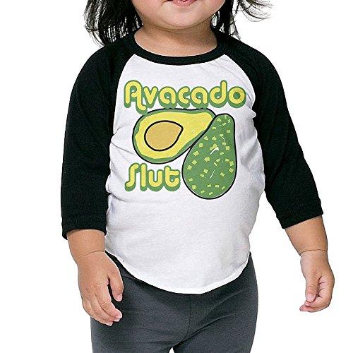 Krampus Mask For Sale (Saroyan Avocado Slut Toddler Raglan T-Shirts Baseball Tee 3/4 Sleeve 2 Toddler)