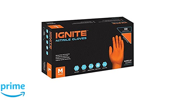 7.0 Mil Thick Size: X-Large Orange Heavy-Duty Nitrile Gloves SUPLB 90 Count Box Aurelia Ignite Case of 10 pallet ordering 97889