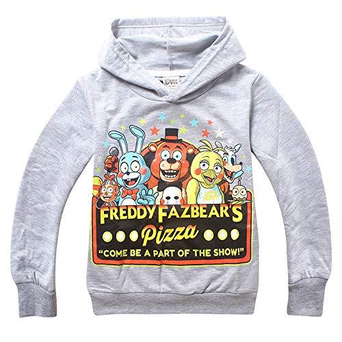 Grocoto T-Shirts - New Brand Five Nights at Freddy's Boys Long Sleeves T-Shirt Children T Shirts Kids Cotton Boy Clothes FNAF Kids Hoodies Thick 1 PCs ()