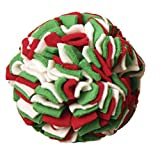 Outward Hound Kyjen  PP01915 Holiday Fleecy Clean Ball, Dog Toy, Medium