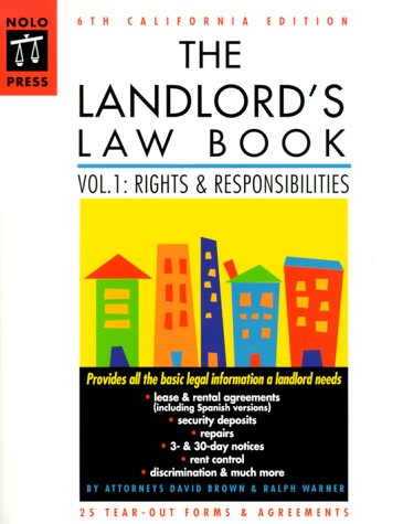 Download The Landlord S Law Book California Edition 6th Ed
