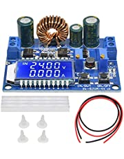 DAOKI DC-DC Buck Boost Converter Module 5.5-30V to 0.5-30V 3A 35W Adjustable Step Up Down Voltage Regulator LCD Display Power Supply Module with 24AWG Cable