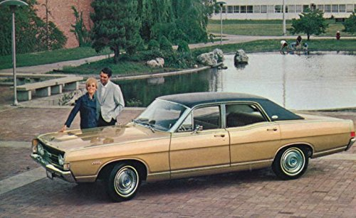 1968 Ford Torino Four Door Sedan ORIGINAL Factory Postcard