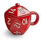 Critical Hit D20 12 oz Ceramic Mug w/ Lid