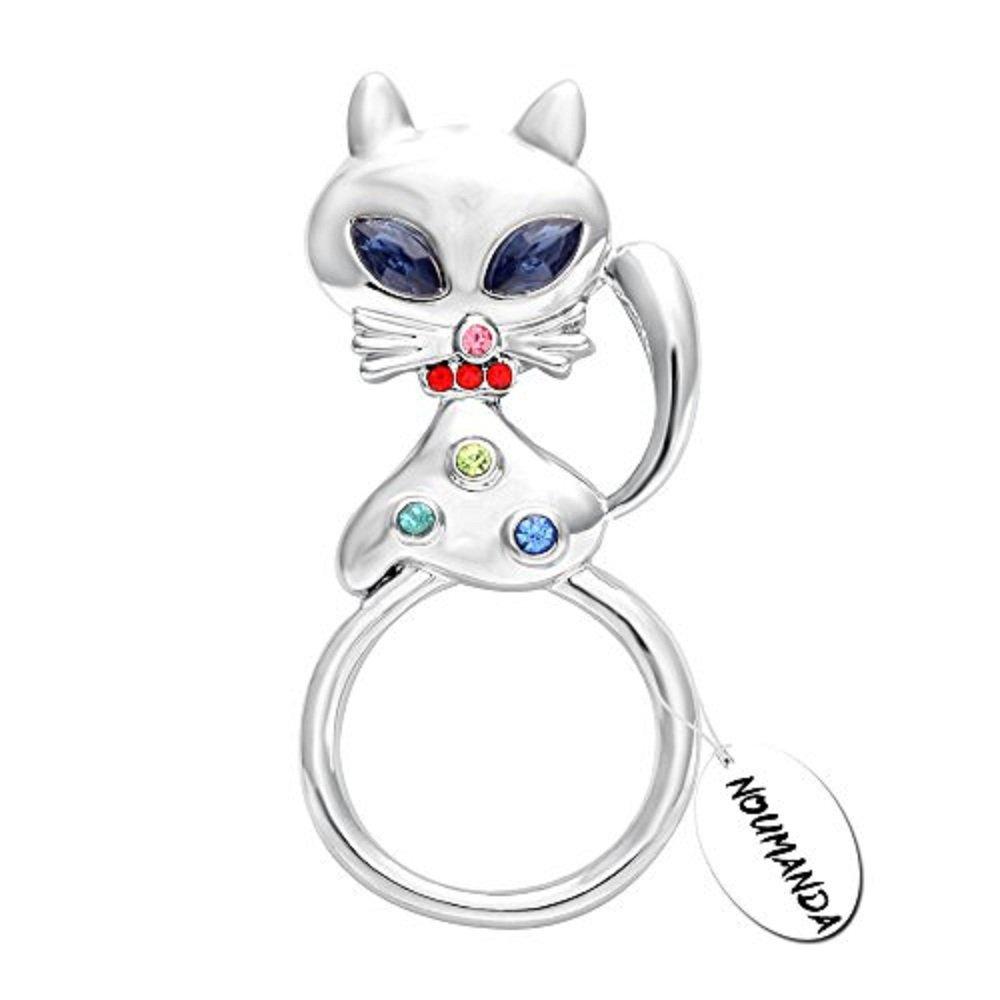 NOUMANDA Fashion Cat Eyeglasses Holder Brooch Charms for Women