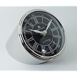 Dorpmarket 4.25 Chrome Contemporary Minimal German Design Desk Clock from Stainless Steel
