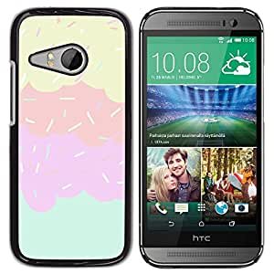 All Phone Most Case / Hard PC Metal piece Shell Slim Cover Protective Case Carcasa Funda Caso de protección para HTC ONE MINI 2 / M8 MINI sprinkles ice cream sweet kids pink
