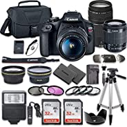 Canon EOS Rebel T7 DSLR Camera Bundle with Canon EF-S 18-55mm f/3.5-5.6 is II Lens + Canon EF 75-300mm f/4-5.6