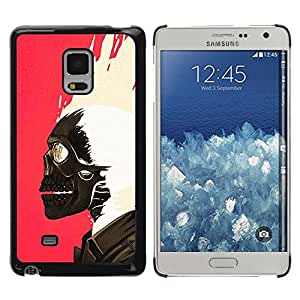 Shell-Star Arte & diseño plástico duro Fundas Cover Cubre Hard Case Cover para Samsung Galaxy Mega 5.8 / i9150 / i9152 ( Skull Paint Pink White Biker Pink )