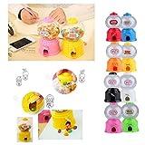 Cute Mini Bubble Gum Ball Candy Dispenser Machine Coin Box Kids Toy