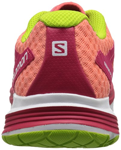 SalomonSense Pulse - Zapatillas de Running Mujer Rojo - Rot (Papaya-B/Lotus Pink/Granny Green)