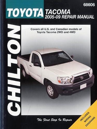 toyota tacoma 2005 2009 chilton s total car care repair manuals rh amazon com 2004 toyota tacoma repair manual pdf 2005 toyota tacoma haynes repair manual