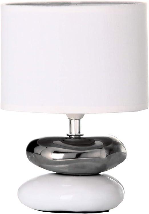 dcasa - Lámpara para mesita de noche oriental blanca de cerámica para dormitorio Fantasy: Amazon.es: Hogar