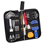 YJWB 147PCS portable watch and clock repair kits, watch open removable spring watch repair kits, watch repair kits