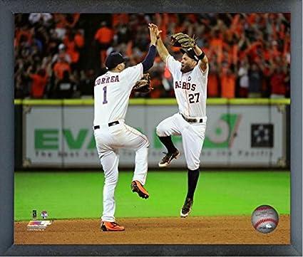 Size: 12 x 15 Framed Jose Altuve Houston Astros Action Photo