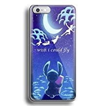 Stitch Peter Pan i wish i could fly for iPhone 6/6s White case