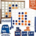 Giant 4 In A Row 4 To Score Premium Wooden Four Connect Game Set In 4 White Wood By Rally Roar Oversized Family Outdoor Party Games For Backyard Lawn Parties Bar Game